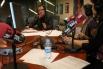 David Escamilla, col·laborador a RAC1 del programa ''Via Lliure'' amb Marta Cailà, hivern 2010