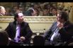 Forum Alqvimia de la Felicidad amb Idili Lizacano (Alqvimia) i Joan-Antoni Melé (Triodos Bank). Presentació de l'acte: David Escamilla. Febrer 2013