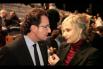 Dialogant amb la Mònica Terribas abans d'otorgar els ''Premis Salvador Escamilla''. Barcelona, 13 de Febrer 2014, Dia Mundial de la Ràdio