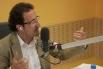 David Escamilla presentando el programa ''Club 21, el club de las ments inquietes''. Radio 4, RNE, Junio 2013