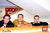 Equipo del programa Cruïlla. Catalunya Cultura: David Escamilla, Claudi Puchades y José Maria Campillo (Barcelona, primavera 2003)