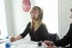 La actriz Aina Clotet y David Escamilla. Programa Directe 4.0. RNE Radio 4. Unidad móvil, primavera 2012