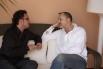 Entrevistando a Miguel Bosé para una revista internacional. Ibiza, verano, 2007