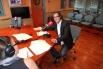 David Escamilla, colaborador en RAC1 del programa ''Vía Lliure'', con Marta Cailà primavera 2010