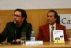 David Escamilla y Justo Molinero (prologuista del libro y presidente del Grupo Tele Taxi). Presentación del libro Historias del taxi. La Casa del Libro, Barcelona, 22 de febrero 2008