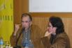 Presentación de mi libro de poemas ''Les edats del fred'' con el poeta Joan Margarit. Casa del Llibre, Barcelona, 2005