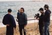 Dirigiendo el film documental ''Mar de invierno'', La Barceloneta, 2004