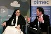 Con Sor Lucía Caram, monja solidaria y Directora de la Fundación Rosa Oriol (Tous). Presentación del acto: David Escamilla. Pimec, Barcelona, febrero 2013.